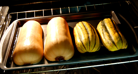 Squash in the Oven