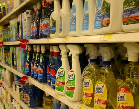 Cleaning Product Aisle